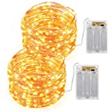 AMIR Led Fairy String Lights 16.4ft 50 Led Starry Fairy Lights With Remote Control 8 Modes Waterproof Decorative Lights For O