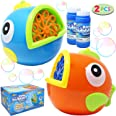 JOYIN 2 Pack Bubble Machines for Kids, Automatic Bubble Blowers, Bubble Makers, Bubbles Party Favors Supplies, Summer Toy, Ou