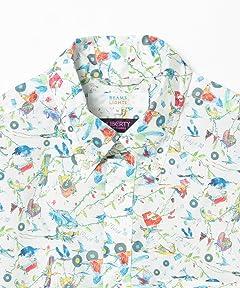 Liberty Print Buttondown Shirt 51-11-0493-012: Island