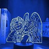 CHWORTHAND 3D My Hero Academia Hawks Anime Led Lamp Night Lights Boku No Hero Academia Lamp Ara for Table Lamp, for Bedroom L