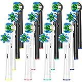 ITECHNIK ブラウン オーラルB 対応 電動歯ブラシ 替えブラシ, マルチアクションブラシ EB50, 歯間ワイパー付ブラシ EB25, (2色2種類16本入)