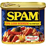 SPAM 20% Less Sodium Luncheon Meat, 340g