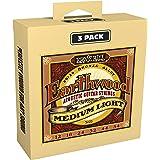 Ernie Ball P03003 Earthwood Medium Light 80/20 Bronze Acoustic Guitar Strings 3 Pack, 12-54 Gauge, Medium Light
