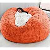 AQHXLS 7-Foot Giant Fur Bean Bag Chair, Large Round Soft and Fluffy Artificial Fur Bean Bag for Living Room Furniture, Lazy S