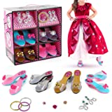 Toys for Girls, Princess Birthday Party Dress Up & Girl Toy Accessories | 4 Pairs of Shoes, 3 Bracelets, 2 Pairs of Earrings,