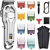 SURKER Mens Hair Clippers Cord Cordless Hair Trimmer Professional Haircut Kit For Men Rechargeable LED Display