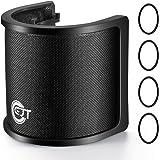 EJT Three Layers Pop Filter, Metal Mesh & Foam & Etamine Layer Microphone Windscreen Cover Handheld Mic Shield Mask, Micropho