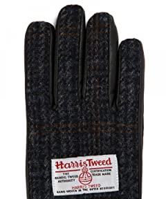 Infielder Design Sheep Leather Harris Tweed Glove 1437-599-1020: 5