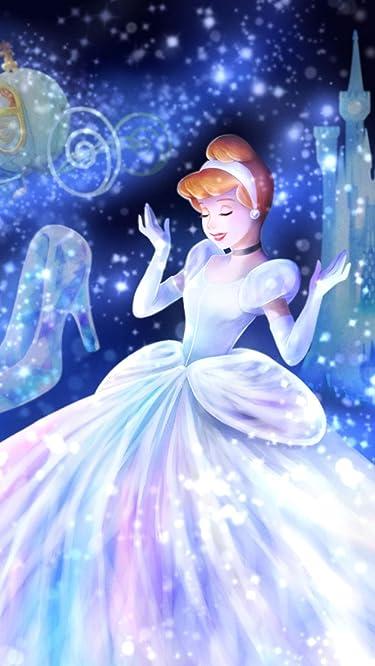 ディズニー  iPhone/Androidスマホ壁紙(640×1136)-1 - 魔法の光に包まれて(シンデレラ)