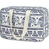 Toiletry Bag Large Cosmetic Bag Travel Makeup Bag Organizer for Women and Girl (Large, Elephant)