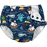 i play. Snap Reusable Absorbent Swimsuit Diaper-Navy Pirate Ship, Navy, 3T