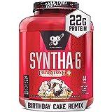 BSN Syntha-6 Whey Protein Powder, Cold Stone Creamery- Birthday Cake Remix Flavor, Micellar Casein, Milk Protein Isolate Powd