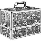 Amasava メイクボックス コスメボックス 大容量 プロ用 化粧箱 化粧品・化粧道具入れ 収納ケース 自宅・出張・旅…