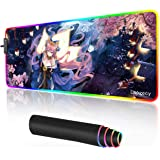 Anime LED Mouse Pad Extended Large RGB Gaming Mouse Pad Gril Mousepad Desk Mat for PC Laptop 31.5×11.8 inches