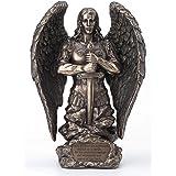 Veronese Design 9.1 Inch Saint Michael Prayer Archangel Monument Antique Bronze Finish Angel Statue