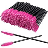 300 Pcs Disposable Mascara Wand Eyelash Brush for EyeLash Extension Supplie(Red)