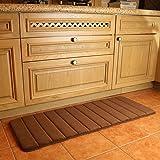 """KMAT Kitchen Mat Anti-Fatigue Bath Mat,47"""" x 17"""" Long Memory Foam Bathroom Rug Extra Soft Non-Slip Absorbent Floor Mat Runner"""