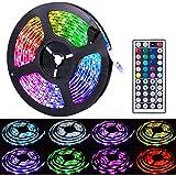 Led Strip Lights, Amazer Tec 16.4ft/5m Led Lights Color Changing RGB SMD 5050 150Leds LED Strip Light Kit with 24 Keys IR Rem