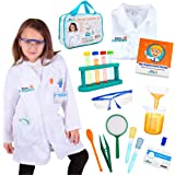 Born Toys 15 Piece Lab Coat for Kids Witch Science kit and lab Goggles Full Scientist Costume for Kids Ages 5-10 for Real Kid