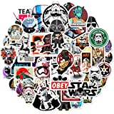 50Pcs Science Fiction Film Theme Star Wars Stickers Cute Stickers for Water Bottles Hydroflasks Skateboard Decal Stickers for