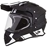 O'Neal Unisex-Adult Off Road SIERRA II Helmet (COMB) (Black/White, Large)