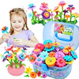 BEMITON Flower Building Toy Set for Girls, Best Birthday Gift for 3 4 5 6 Year Old Kids, Arts and Crafts Kit for Toddlers, ST