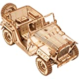 ROKR 3D Wooden Puzzles for Adults Mechanical Models Kits to Build (Army Jeep)