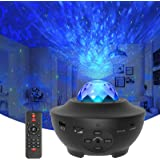 Star Projector Galaxy Light Projector with Ocean Wave Projector, Music Speaker, Voice Control&Timer, Nebula Cloud Ceiling Lig