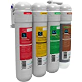 AQUATICLIFE Twist-in 4-Stage Reverse Osmosis Water Filtration Deionization System, RO/DI Filter Unit 75 GPD