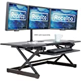 "Rocelco 46"" Height Adjustable Standing Desk Converter 