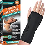 Night Wrist Sleep Support Brace - Fits Both Hands - Cushioned to Help With Carpal Tunnel and Relieve and Treat Wrist Pain ,Ad