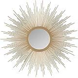 Madison Park Sunburst Mirror, MP160-0230, Metal, Gold, Small