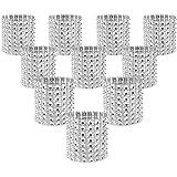 KEIVA Napkin Rings, Pack of 120 Rhinestone Napkin Rings Diamond Adornment for Place Settings, Wedding Receptions, Dinner or H