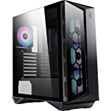 MSI MPG Series Premium Mid-Tower Gaming PC Case: Tempered Glass Side Panel, ARGB 120mm Fans, Liquid Cooling Support up to 360
