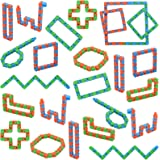 Yeetec 24 Pack 24 Links Wacky Tracks Snap and Click Fidget Toys, Finger Sensory Toys, Snake Puzzles for Stress Relief, Party