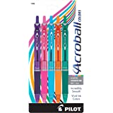 PILOT Acroball Colors Advanced Ink Refillable & Retractable Ball Point Pens, Medium Point, Black Ink, 5-Pack (31808)