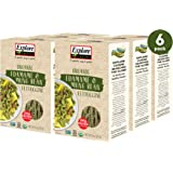 Explore Cuisine Organic Edamame & Mung Bean Fettuccine (6 Pack) - 8 oz - High Protein, Gluten Free Pasta - USDA Certified Org