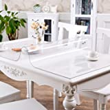 PVC製 テーブルクロス 透明 テーブルマット デスクマット デスクパッド テーブルカバー 長方形 防水 耐熱 耐久 汚れ防止 久 汚れ防止 (透明 厚さ1mm, 80*150cm)