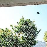 防鳥ネット 鳥よけネット ベランダ 鳩よけ カラスよけ (結束バンド15本付き) 猫侵入脱出防止 透明【SxP】 (3m x 8m)