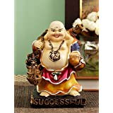 TiedRibbons Laughing Buddha feng Shui Decorative Statue Figurine for Home Decoration