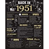 70 Years Ago Birthday or Wedding Anniversary Poster 11 x 14 Party Decorations Supplies Large 70th Party Sign Home Decor for M