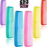 12 Pieces Colorful Hair Combs Set, Hair Combs Set, Hair Combs for Women and Men, Colorful Coarse, Fine Dressing Comb (12 Piec