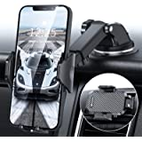 DesertWest Cell Phone Holder, Car Phone Mount Dashboard/Windshield/Air Vent Compatible with iPhone XR Xs Max Xs X 8 7 6+, Sam
