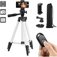 COCHING スマホ三脚 スマートフォン対応三脚 ビデオカメラ三脚 106cm(42インチ) 4段階伸縮 3WAY雲台…