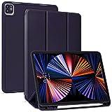 【Amazon限定ブランド】 iPad Pro 12.9 ケース 5G 第五世代専用 2021年4月発売 Pencil2 ワイヤレス充電対応用 iPad Pro 12.9インチ Pencilホルダー付き オートスリープ ウェイク 三つ折りスタンド -