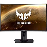 "ASUS TUF Gaming VG27VQ 27"" Curved Monitor, 1080P Full HD, 165Hz (Supports 144Hz), Freesync, 1ms, Extreme Low Motion Blur, Eye"