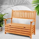Gardeon Wooden Storage Bench Outdoor Furniture 2 Seat Garden Patio Yard