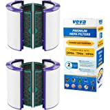 VEVA Premium HEPA Replacement Filter 2 Pack Compatible with All Models Dyson HP04, TP04 and DP04 purifiers, Part # 969048-01