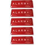5 Stickers Signs - Intruder Alarm Warning Security Stickers - Internal or External use - 1,9 x 0,7 inch