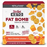 SlimFast Keto Fat Bomb Snacks - Real Cheddar Cheese Crisps - 6 Count - Pantry Friendly